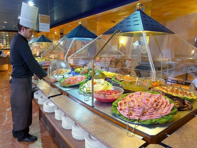 Buffet Restaurant Magic Rock Gardens Hotel Benidorm